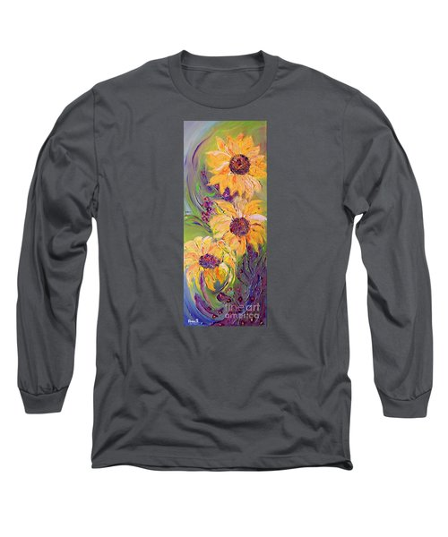 Sunflowers Long Sleeve T-Shirt by AmaS Art