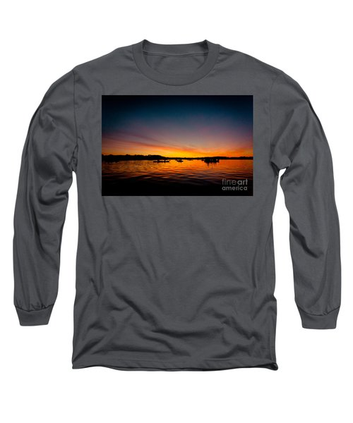 Sunrise Above Lake Water Summer Time Long Sleeve T-Shirt