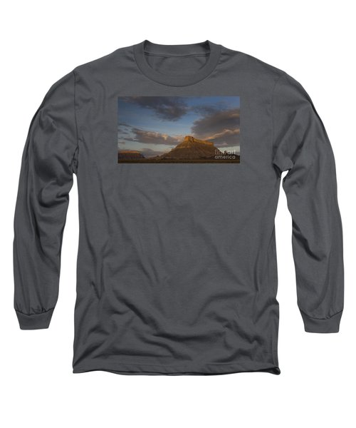 Long Sleeve T-Shirt featuring the photograph Sunrise Over Factory Butte by Keith Kapple