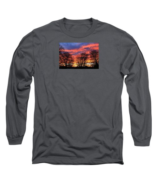 Long Sleeve T-Shirt featuring the photograph Sunset And Filigree by Nareeta Martin