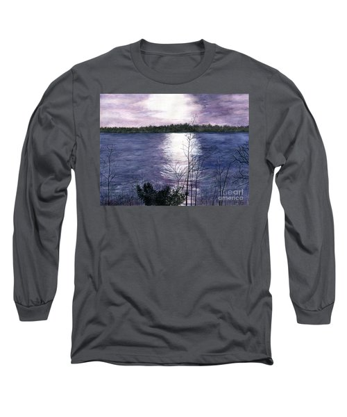 Long Sleeve T-Shirt featuring the painting Sunset At Niagara River New York by Melly Terpening