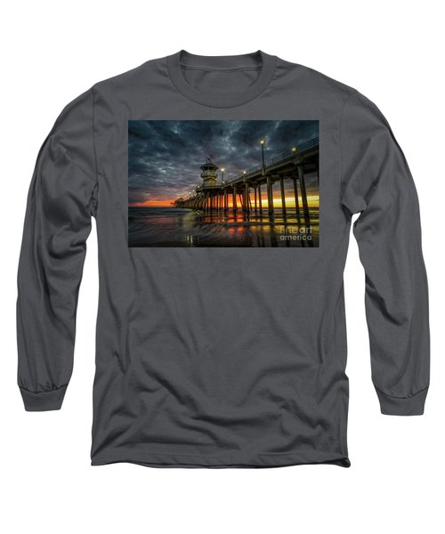 Sunset Huntington Beach Pier  Long Sleeve T-Shirt