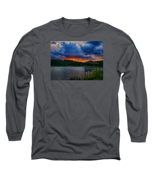 Sunset Huntington Beach State Park Long Sleeve T-Shirt by Bill Barber