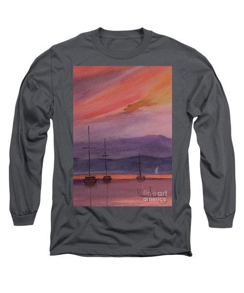 Sunset On Madeline Island Long Sleeve T-Shirt