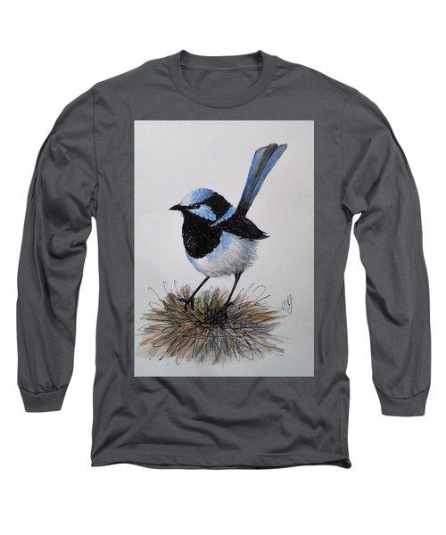 Superb Blue Wren Long Sleeve T-Shirt
