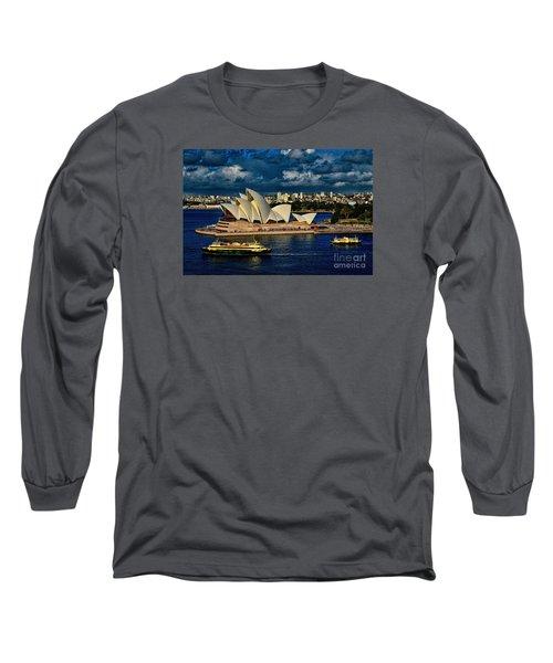 Sydney Opera House Australia Long Sleeve T-Shirt by Diana Mary Sharpton