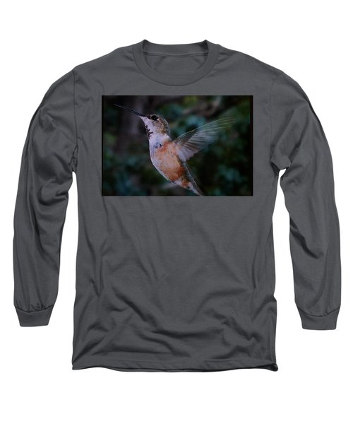 Tan Hummingbird Long Sleeve T-Shirt