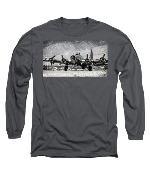 B-17 Bomber Madras Maiden  Long Sleeve T-Shirt