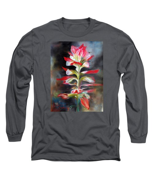 Texas Indian Paintbrush Long Sleeve T-Shirt by Karen Kennedy Chatham