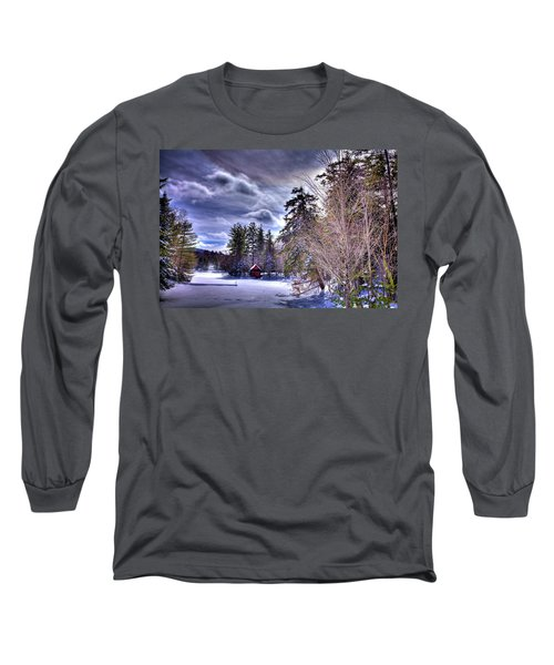 Long Sleeve T-Shirt featuring the photograph The Beaver Brook Boathouse by David Patterson