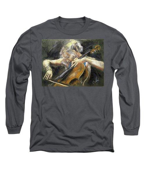 The Cellist Long Sleeve T-Shirt by Debora Cardaci