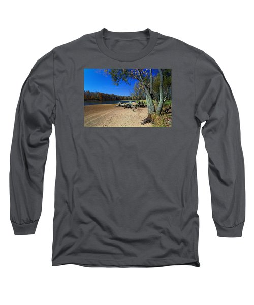 Long Sleeve T-Shirt featuring the photograph The End Of Summer by Judy  Johnson