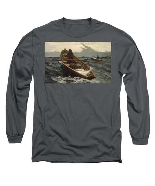 Long Sleeve T-Shirt featuring the painting The Fog Warning - 1885 by Winslow Homer