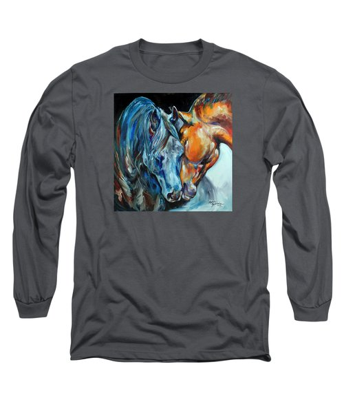 The Meeting  Long Sleeve T-Shirt by Marcia Baldwin