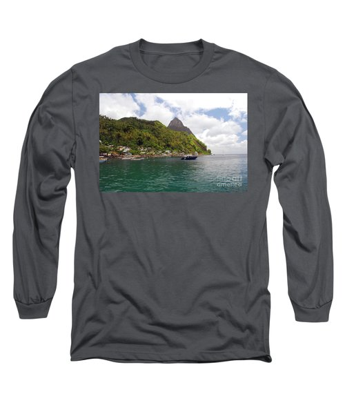 Long Sleeve T-Shirt featuring the photograph The Pilons by Gary Wonning
