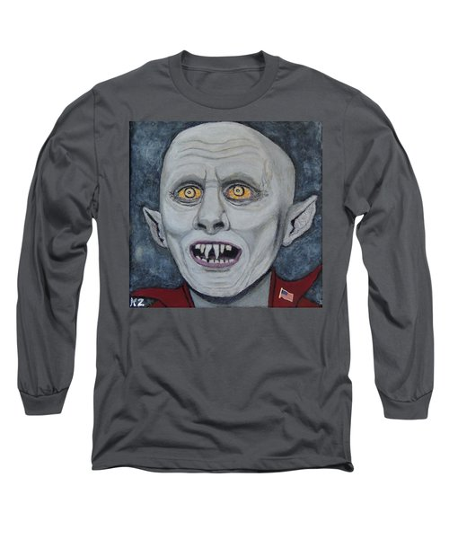 Long Sleeve T-Shirt featuring the painting The Politician. by Ken Zabel