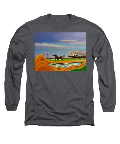 The Race Long Sleeve T-Shirt by Margaret Harmon