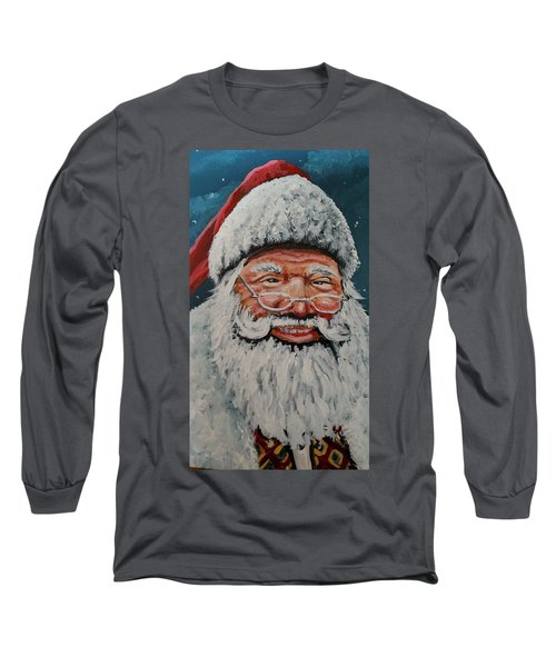 The Real Santa Long Sleeve T-Shirt by James Guentner