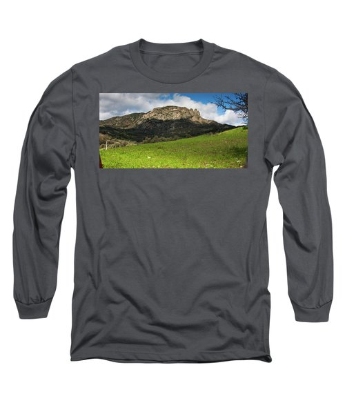 Long Sleeve T-Shirt featuring the photograph The Three Finger Mountain by Bruno Spagnolo