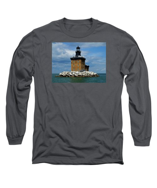 Toledo Harbor Lighthouse Long Sleeve T-Shirt by Michiale Schneider