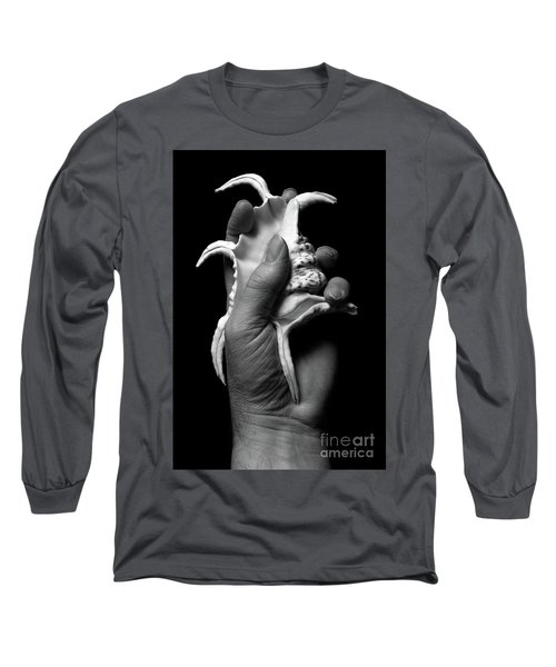 Long Sleeve T-Shirt featuring the photograph Touch Series - Shells by Nicholas Burningham