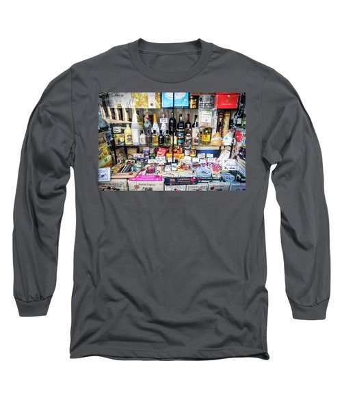Traditional Spanish Deli Food Shop Display In Santiago De Compos Long Sleeve T-Shirt