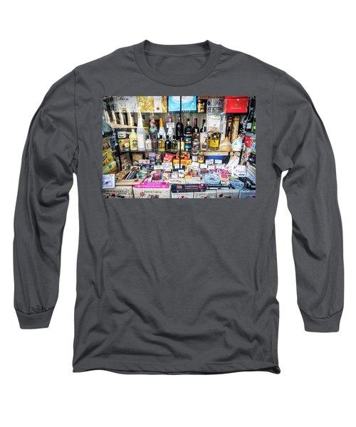 Traditional Spanish Deli Food Shop Display In Santiago De Compos Long Sleeve T-Shirt