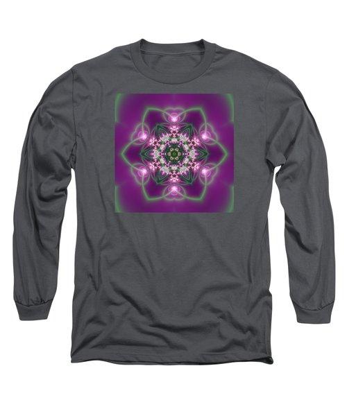 Long Sleeve T-Shirt featuring the digital art Transition Flower 6 Beats 3 by Robert Thalmeier