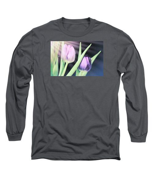 Tulips On Parade Long Sleeve T-Shirt by Bonnie Bruno