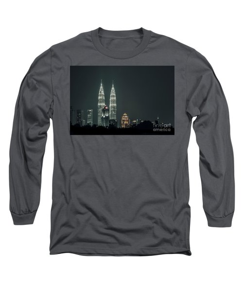 Long Sleeve T-Shirt featuring the photograph Twin Towers by Charuhas Images