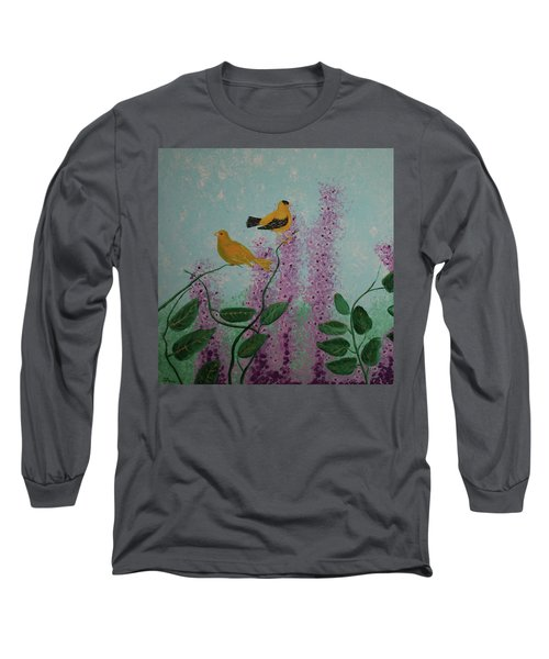 Two Yellow Chickadees Long Sleeve T-Shirt