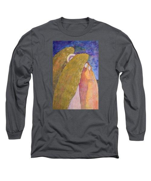 Under The Wing Of An Angel Long Sleeve T-Shirt by Lynda Hoffman-Snodgrass