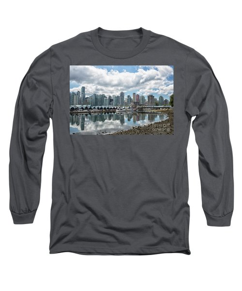 Vancouver Skyline Long Sleeve T-Shirt by Patricia Hofmeester
