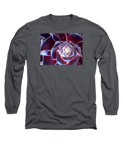 Velvet Rosette Long Sleeve T-Shirt
