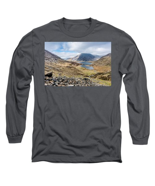 Long Sleeve T-Shirt featuring the photograph View From Glyder Fawr by Nick Bywater