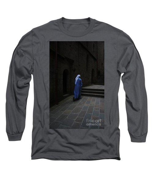 Walk Of Faith Long Sleeve T-Shirt by Therese Alcorn