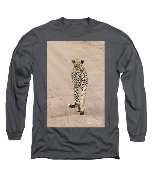 Long Sleeve T-Shirt featuring the photograph Walking Away by Pravine Chester