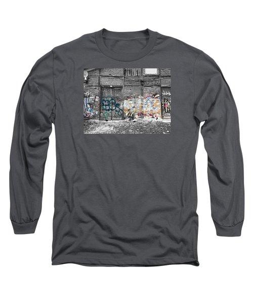 Warehouse In Lisbon Long Sleeve T-Shirt by Ehiji Etomi
