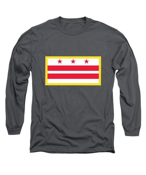 Washington, D.c. Flag Long Sleeve T-Shirt