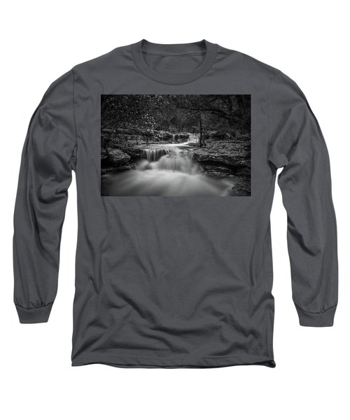 Waterfall In Austin Texas Long Sleeve T-Shirt