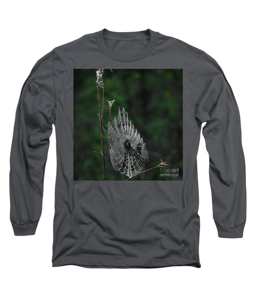 Long Sleeve T-Shirt featuring the photograph Webs We Weave by Skip Willits