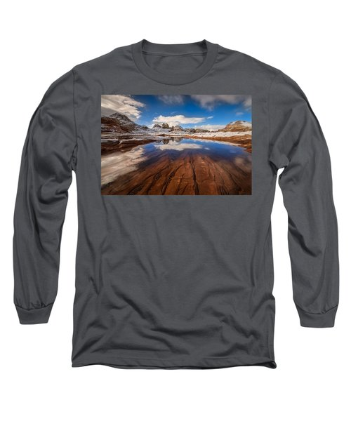 White Pocket Northern Arizona Long Sleeve T-Shirt
