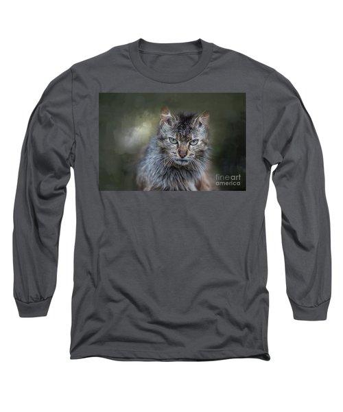 Wild Cat Portrait Long Sleeve T-Shirt