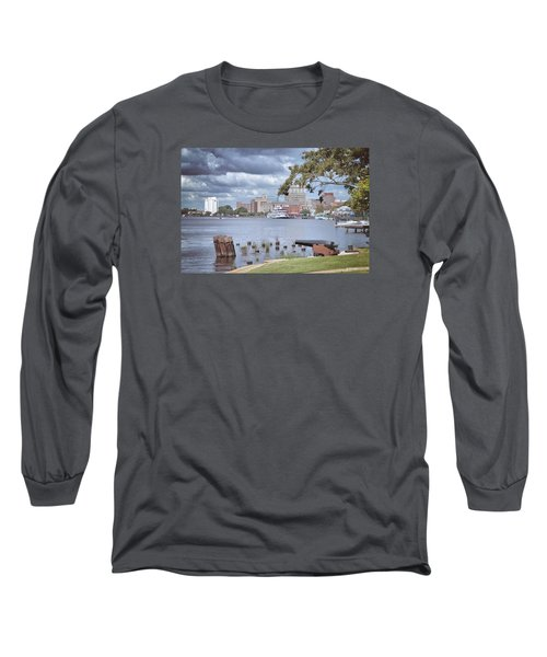 Wilmington Riverfront Long Sleeve T-Shirt by Phil Mancuso