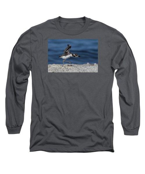 Wilson's Plover Long Sleeve T-Shirt by Meg Rousher