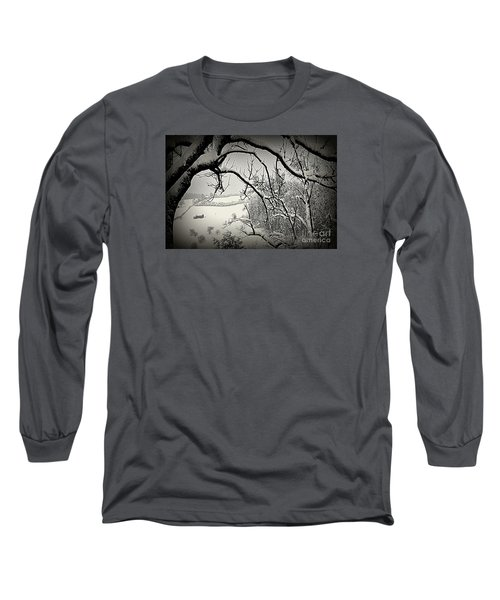 Long Sleeve T-Shirt featuring the photograph Winter Scene In Switzerland by Susanne Van Hulst