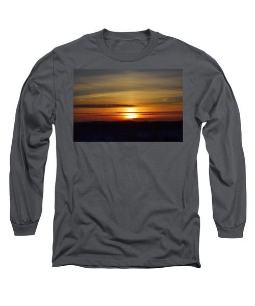 Winter Sunset Long Sleeve T-Shirt by Dacia Doroff