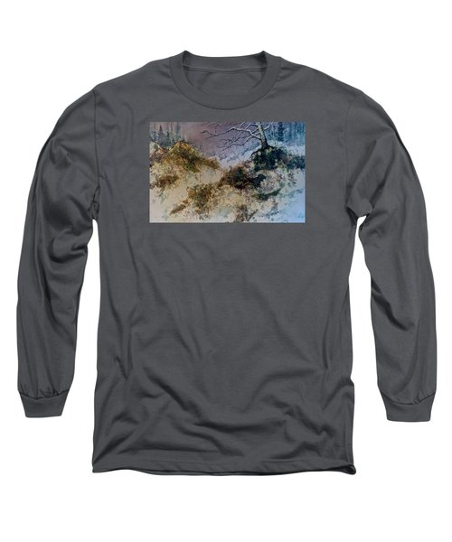 Long Sleeve T-Shirt featuring the painting Winter's Morn by Carolyn Rosenberger