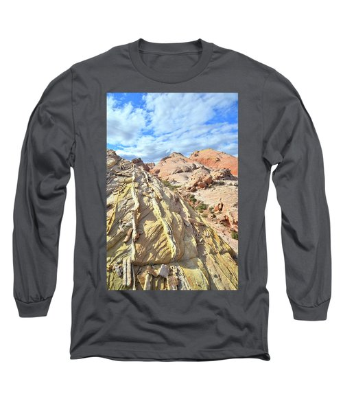 Yellow Brick Road In Valley Of Fire Long Sleeve T-Shirt by Ray Mathis
