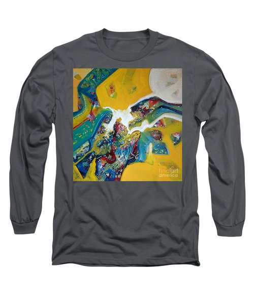 Yellow Harmony Long Sleeve T-Shirt by Sanjay Punekar